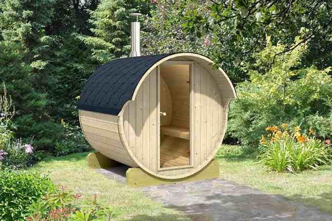 Mini sauna good for 4 persons.