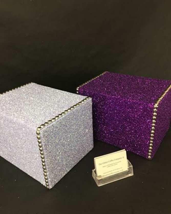 Glitter ash boxes