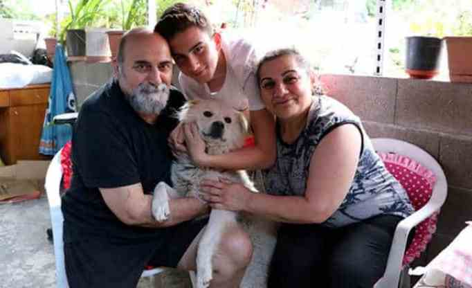animal found back in his family's arms