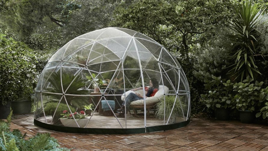 Dome-shaped garden igloo