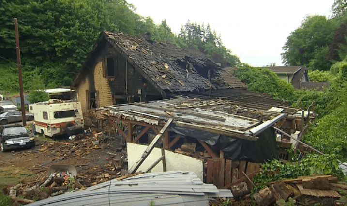 what remained from the house fire