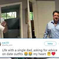 Single dad asking daughter for fashion advice becomes Twitter famous