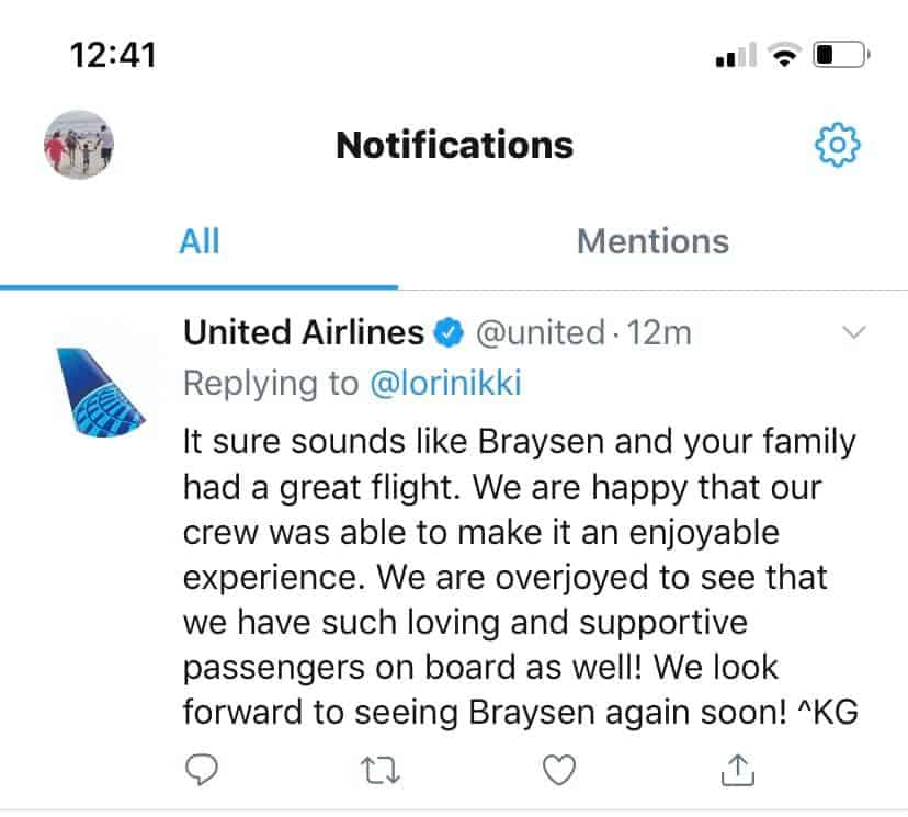 United Airlines, the airplane