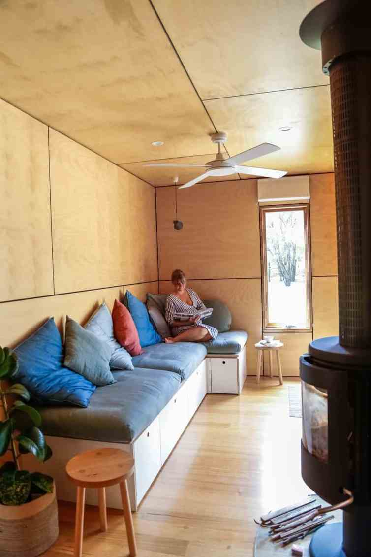 Inside the couple's container home