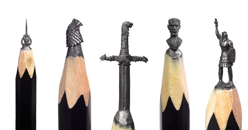 Mini Game of Thrones sculptures