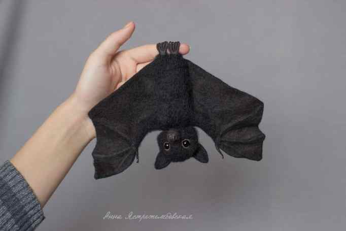Bat toy made out of wool