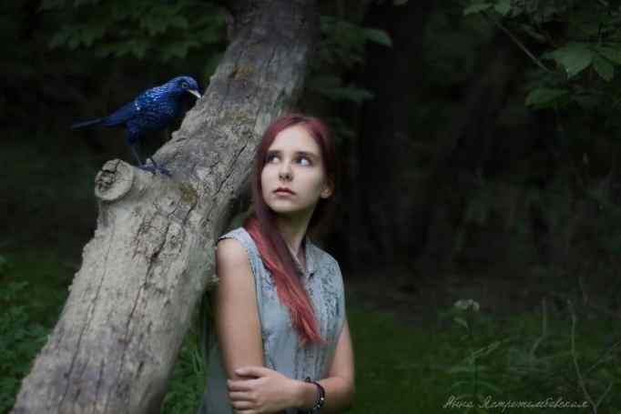 Anna's felted bird creation