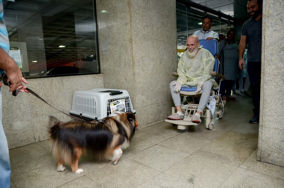 hospital visit from a dog