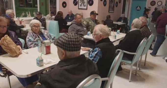 Dementia patients at daycare center