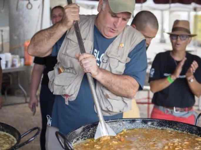 The celebrity Chef Jose Andres cooking meals for the hurricane victims