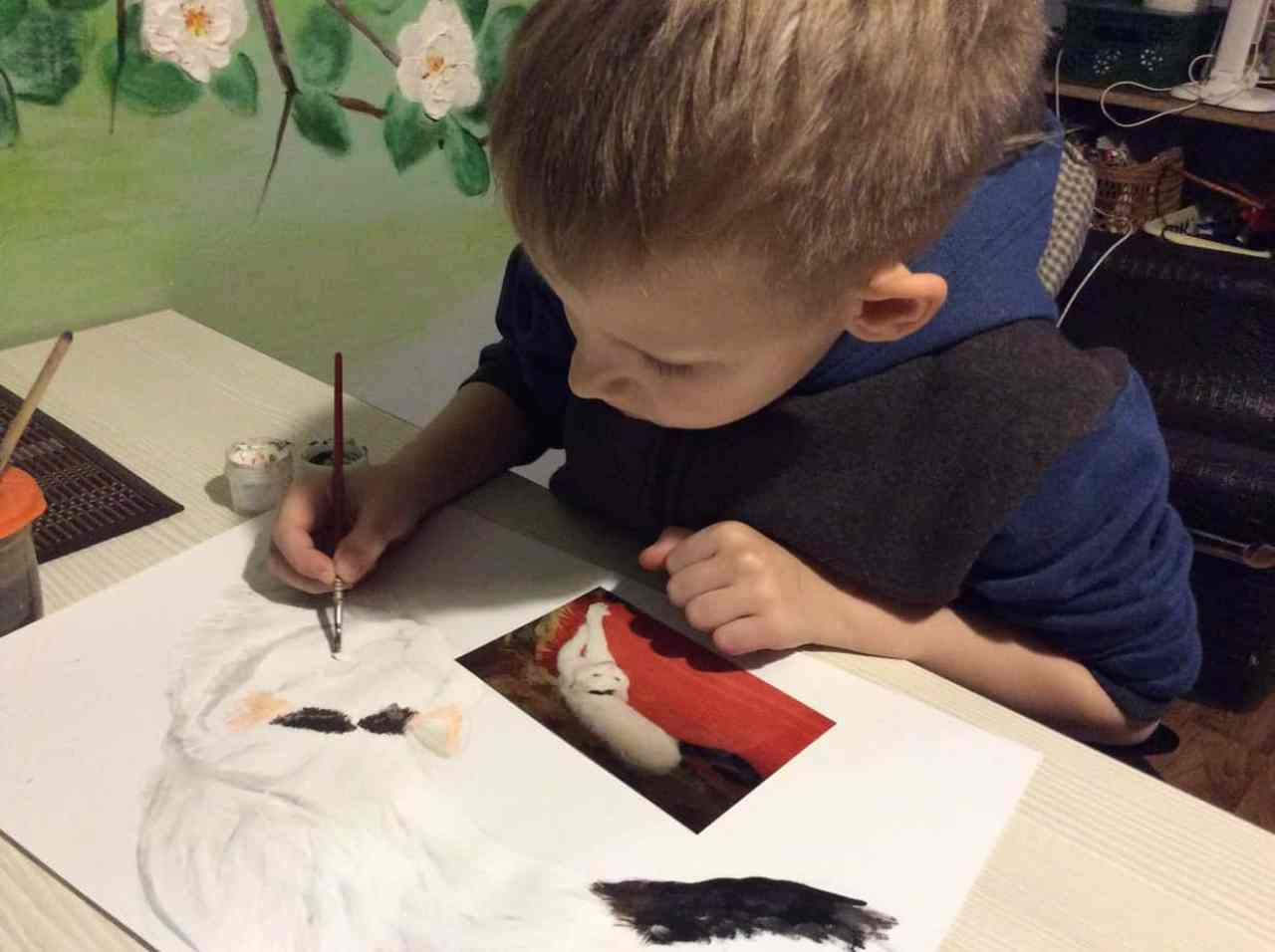 Helping animals through his paintings.