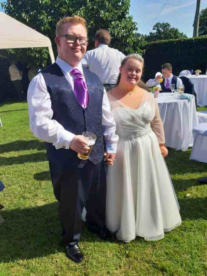 Young couple with down syndrome proves love conquers all.