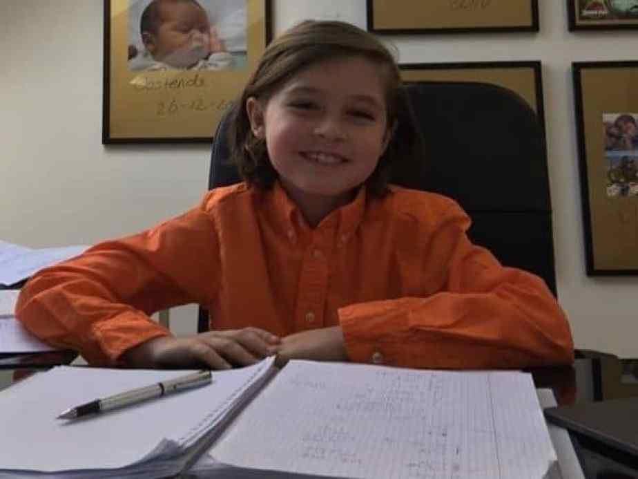9yo child graduates from university with an electrical engineering degree.