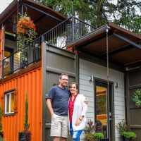 Couple builds an amazing home from shipping containers for mortgage-free living