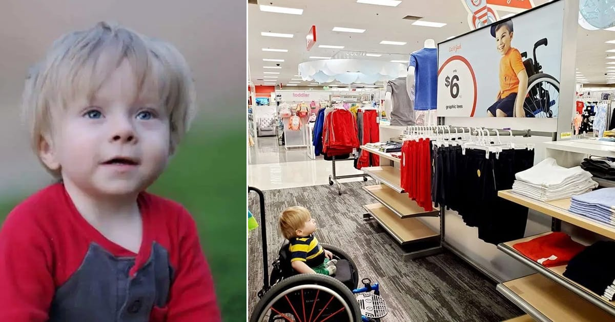 Mom gets emotional as 2-year-old son gazes in amazement at inclusive Target advertisement - my positive outlooks
