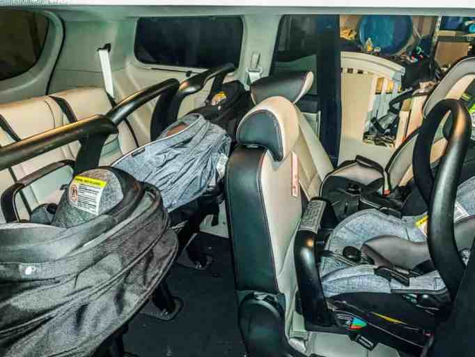 Car seats for the Thompsons who were delivered by caesarian birth.