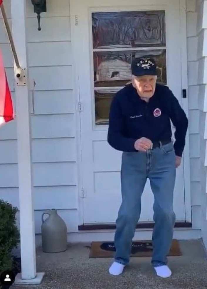 Adorable video of man dancing to a Timberlake pop song goes viral.