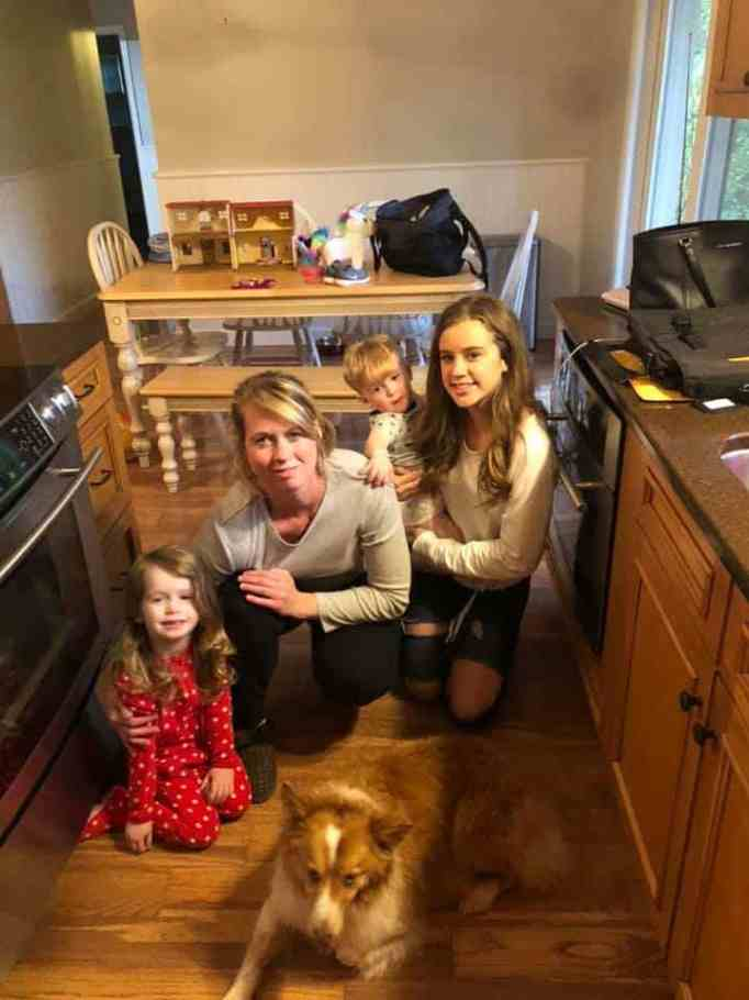 This family's house was destroyed by a tornado.