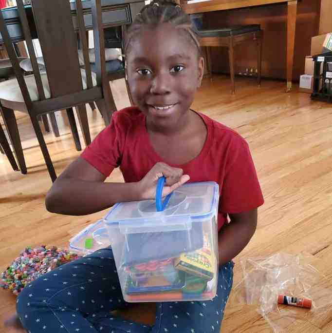Kid starting her own charitable donations.