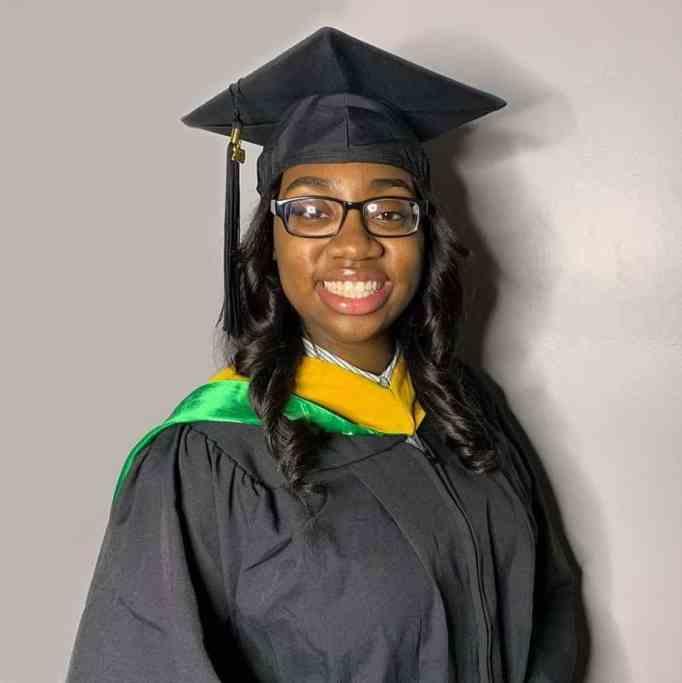 Prodigy graduates with a master's degree.