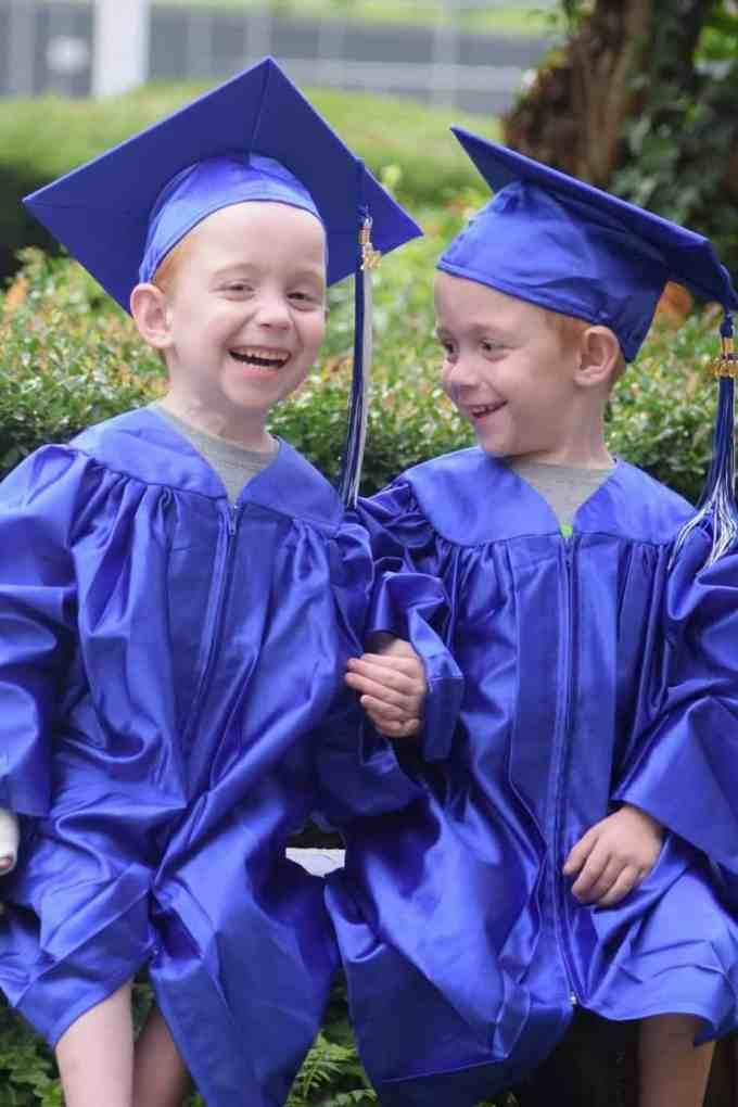Carter and Conner just graduated from kindergarten. Wolfson Children's Hospital