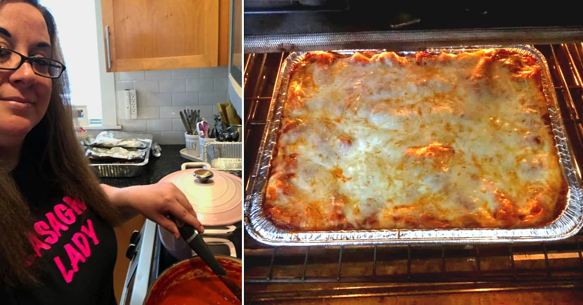 Furloughed worker used her stimulus check to make 400 lasagnas for her neighbors - my positive outlooks