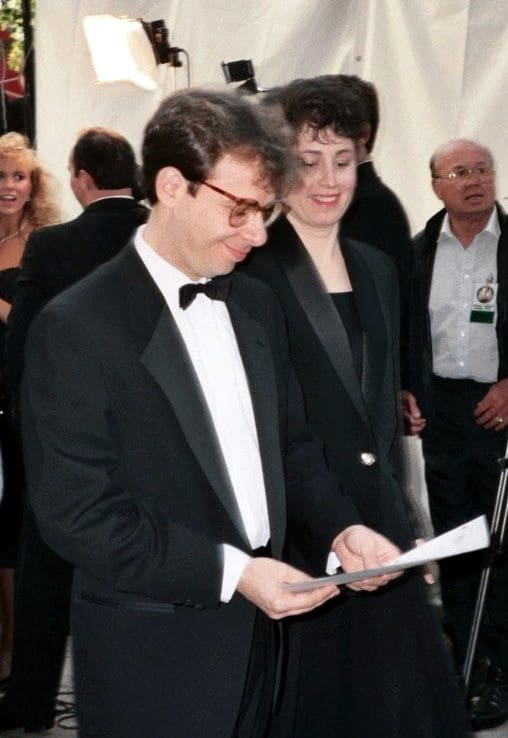 Rick Moranis and his wife Ann Belsky at the 62nd Academy Awards