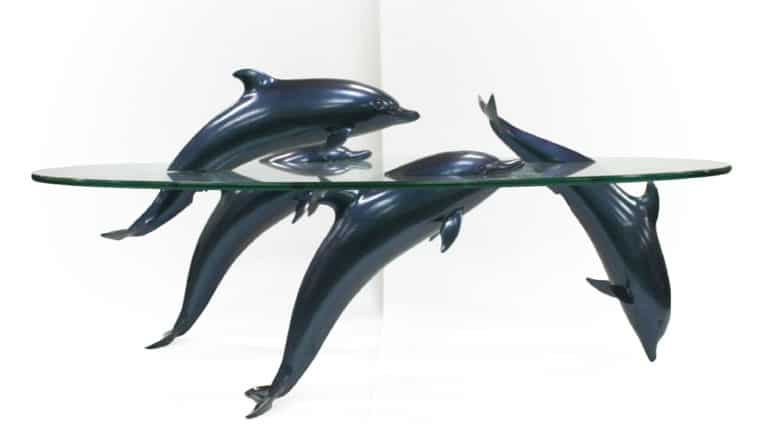 The Frisky Dolphin Table by David Pearce