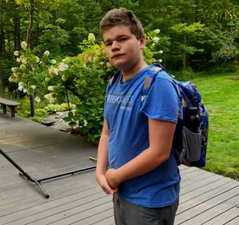 14-year-old teen with autism