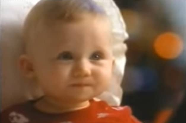The adorable baby in the Cheerios Christmas commercial 1999