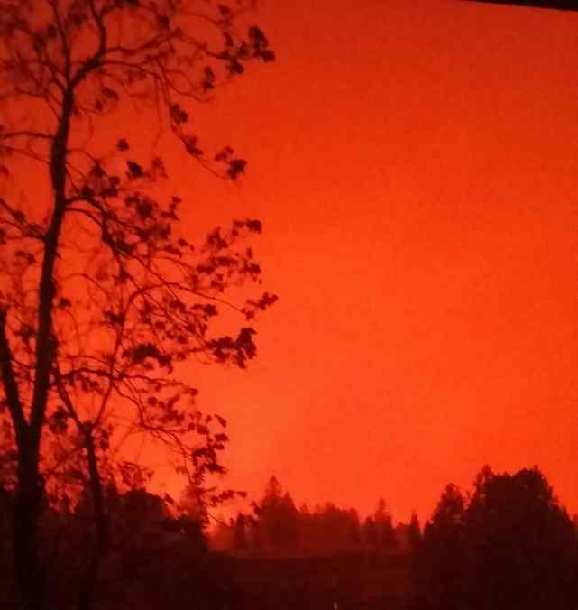 The wildfire in Paradise, California