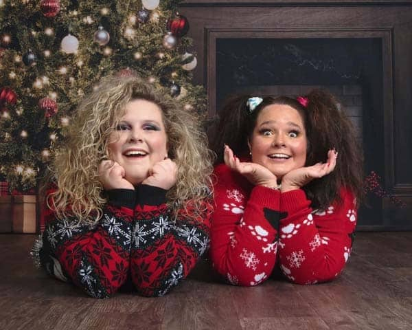 These two best friends decide to have an ugly sweater photoshoot.