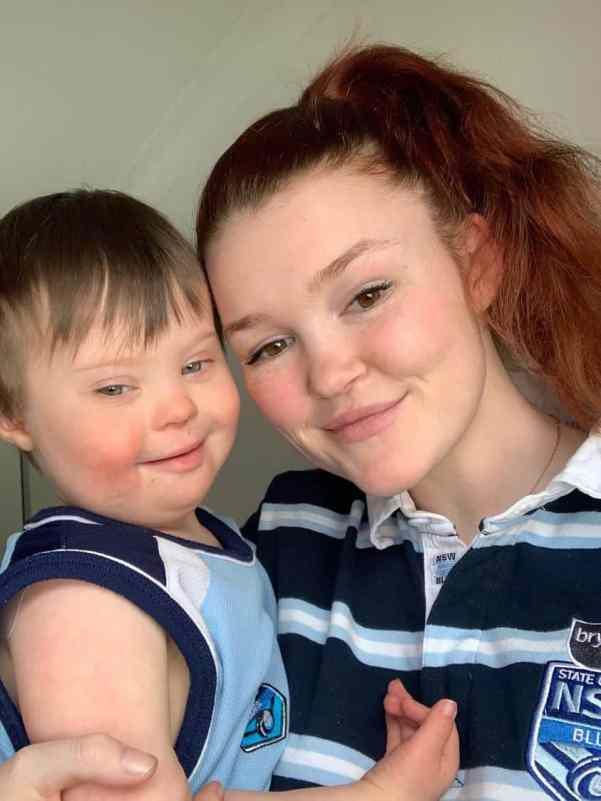 Brodee with her son Elijah
