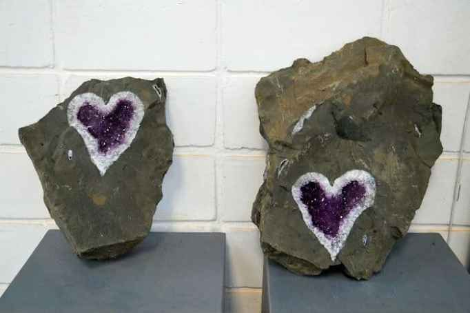 Heart-shaped amethyst geode discovered in Uruguay