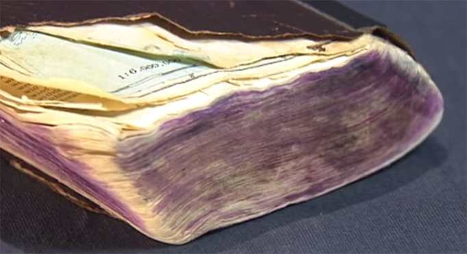 A closer look at the damaged book