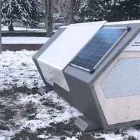 German city builds futuristic-looking 'nests' to protect the homeless from cold winter nights
