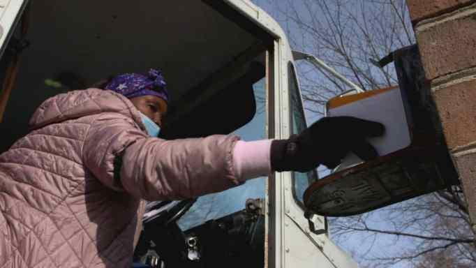 Alisha Carter delivering mail