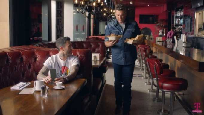 Blake Shelton and Adam Levine in a T-Mobile ad