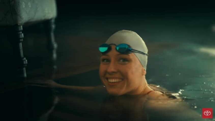 Jessica Long in the Toyota ad featuring her life story