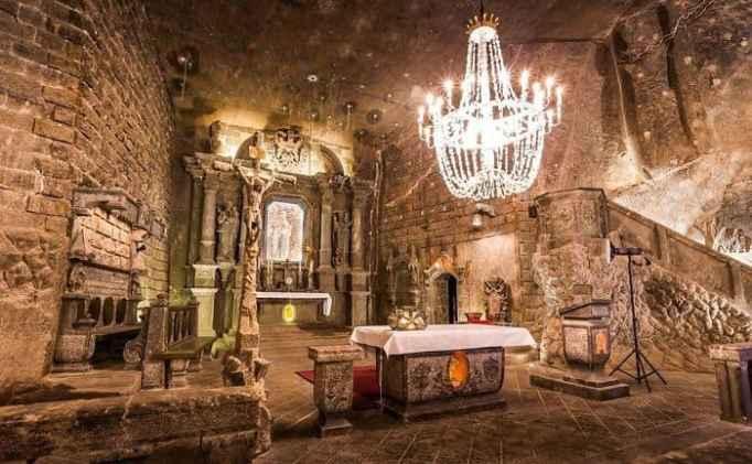 A chapel inside the Wieliczka Salt Mine