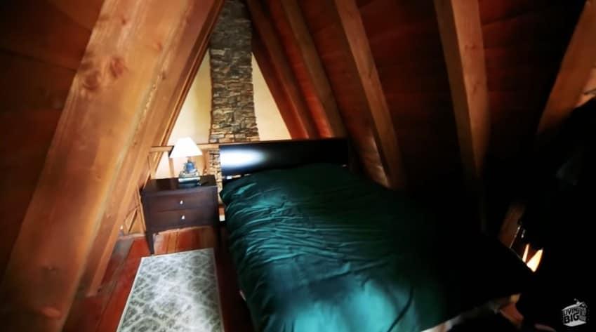 The sleeping loft inside Winckler Cottage