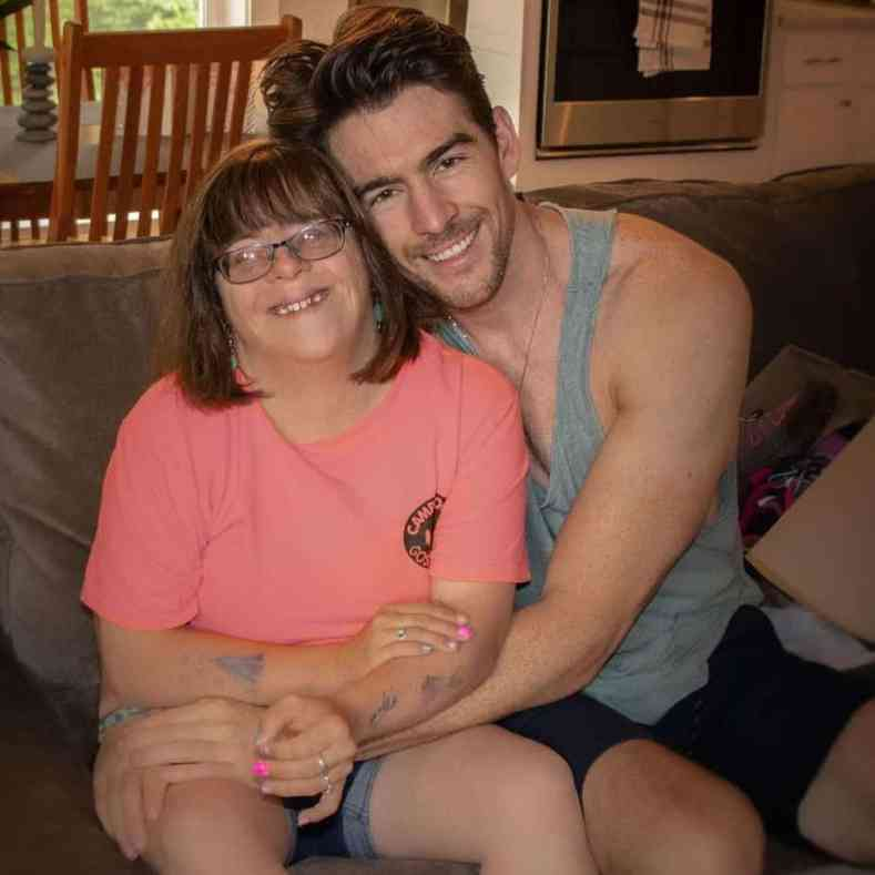 Chris Garafola hugging his sister Brittany Garafola 1
