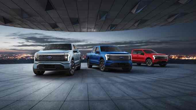 The F-150 Lightning comes in XLT, Lariat and Platinum series