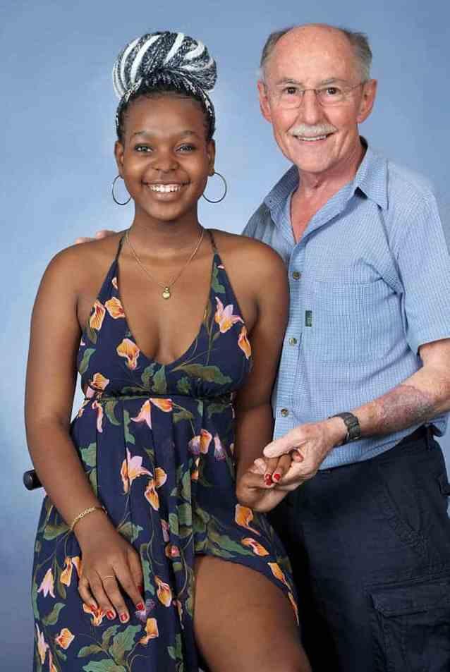 Mandisa Mlitwa with her adoptive father