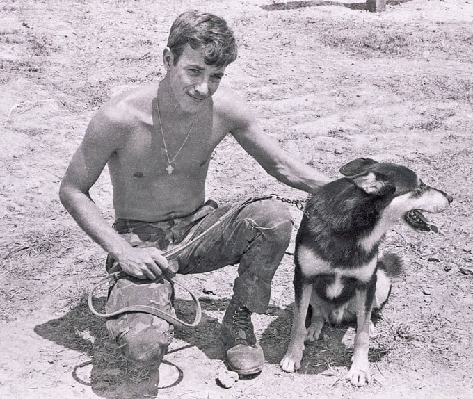 Mike Monahan and Chico in Vietnam