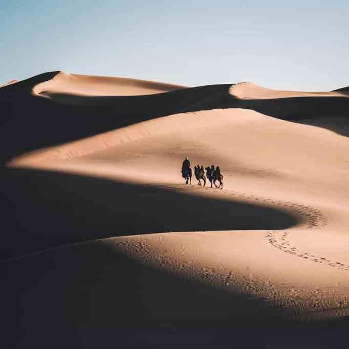 Песчаные дюны в Монголии