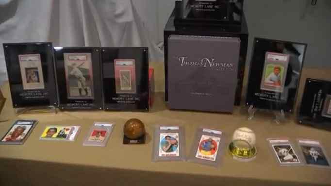 The Thomas Newman collection of baseball memorabilia