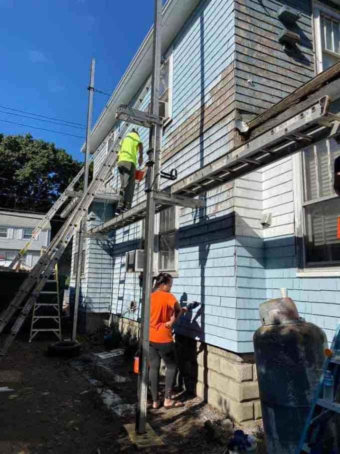 A home undergoing renovation
