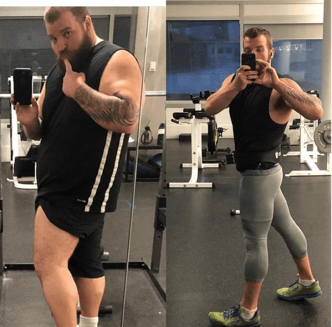 Митч Фульман показывает свои успехи в похудании