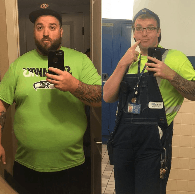 Невероятная трансформация потери веса Митча Фульмана до и после